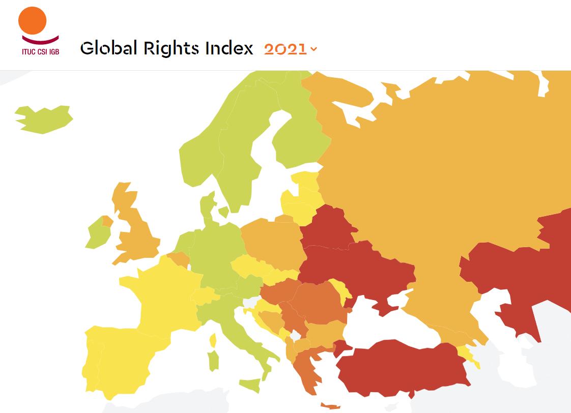 V Hondurase, Indii, Indonézii, Uruguaji a na Slovensku dochádza k rozkladu práv po tom, čo vlády prijali represívne zákony