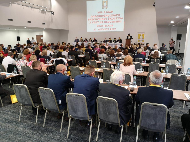 Uskutočnil sa VIII. Zjazd Odborového zväzu pracovníkov školstva a vedy na Slovensku